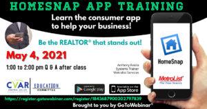 Homesnap App Training @ WEBINAR
