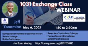 Advanced 1031 Tax Deferred @ ZOOM Webinar