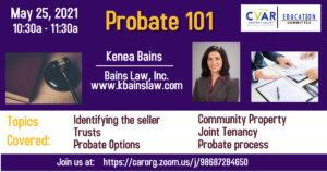 Probate 101 @ ZOOM Webinar