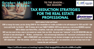 Tax Reduction Strategies for the Real Estate Professional @ Zoom
