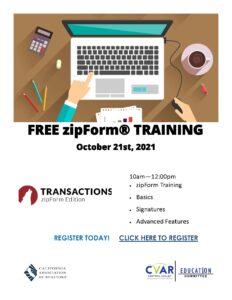 zipForm Training @ ZOOM